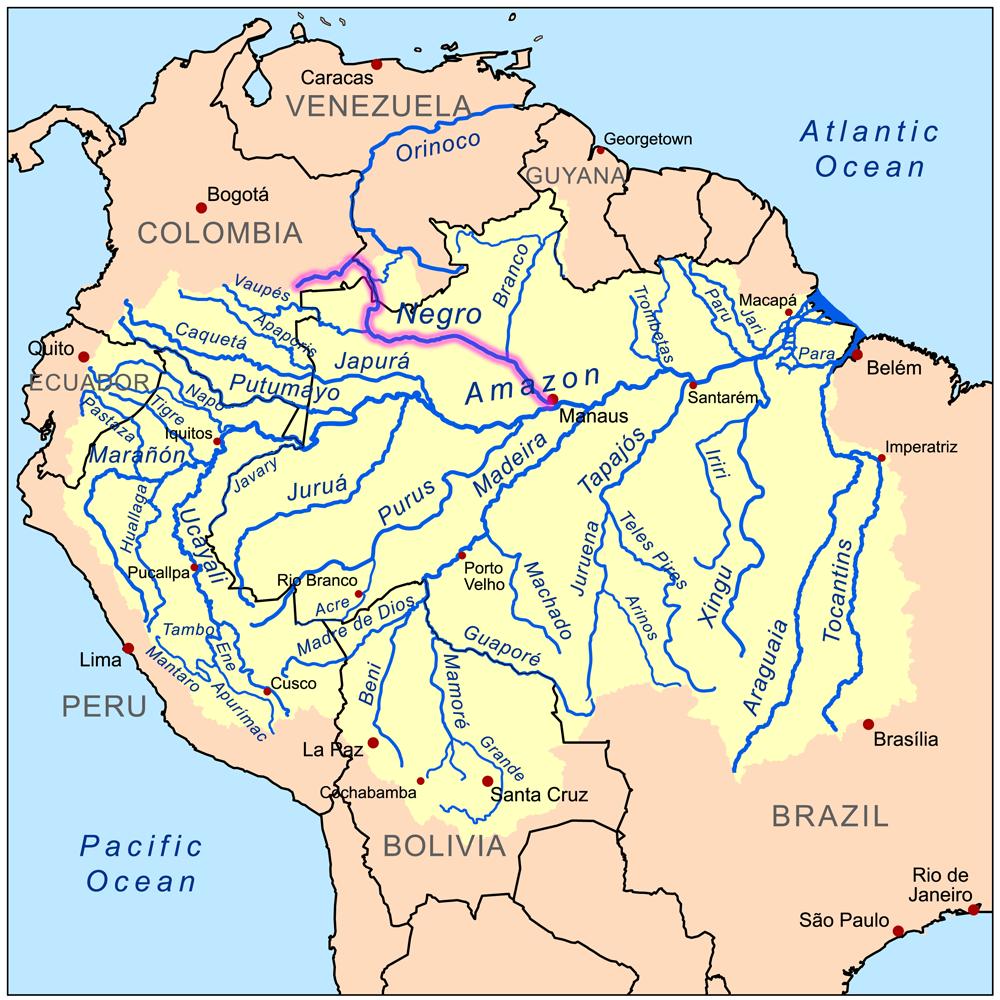 Negroamazonrivermap