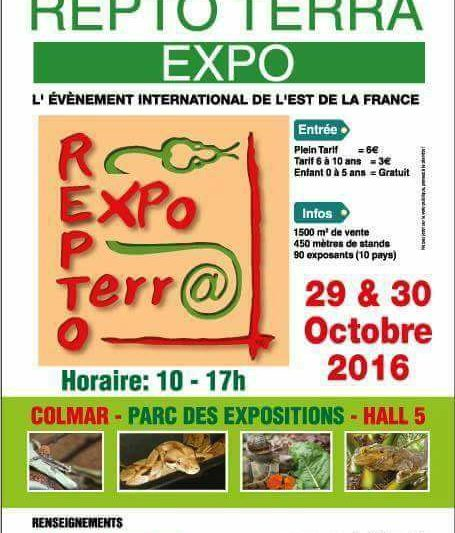 REPTO TERRA EXPO – Colmar (Francia) 29-30 0ttobre 2016