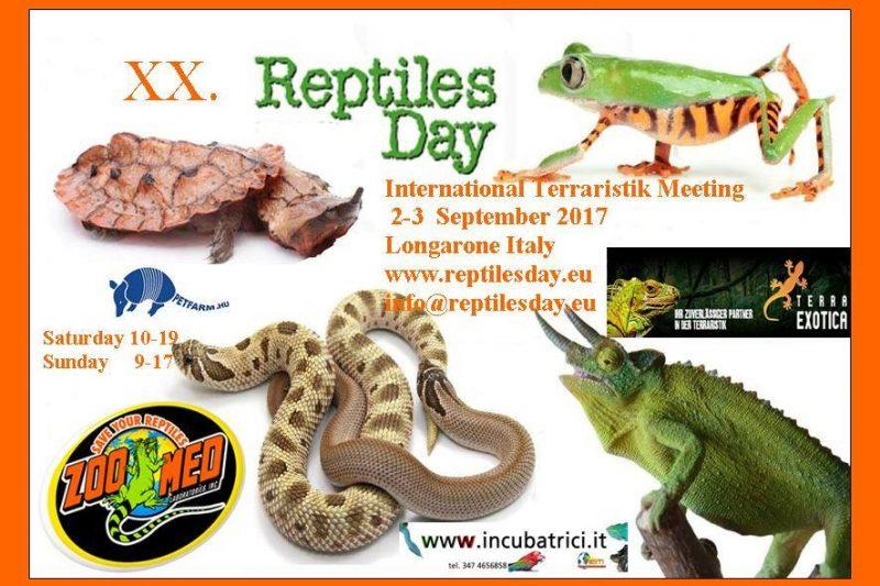 XX REPTILES DAY – Longarone (Bl) – 2-3 settembre 2017