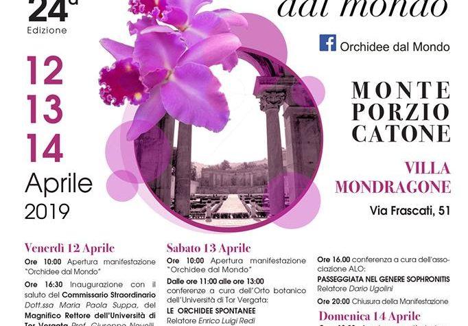 Orchidee dal mondo – 12-13-14 aprile 2019 . Monte Porzio Catone (Roma)
